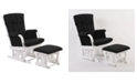 Artiva USA Home Deluxe Cushion 2-Piece Glider Chair and Ottoman Set