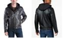 Michael Kors MICHAEL Kors Men's Faux-Leather Hooded Bomber Jacket