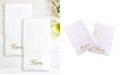 """Linum Home 100% Turkish Cotton """"Hers"""" and """"Hers"""" 2-Pc. Hand Towel Set"""