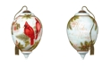 Ne'Qwa Holiday Joy hand painted blown glass Christmas ornament