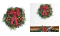"""Northlight 24"""" Pine with Red Ball Ornaments and Pine Cones Artificial Christmas Wreath - Unlit"""