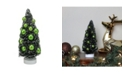 """Northlight 8.5"""" Green Sisal Christmas Tree with Ornaments Table Top Decoration"""