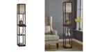 "Artiva USA Etagere 63"" Shelf Floor Lamp with Drawer"