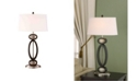 "Artiva USA Infinity Contemporary 33.5"" Dark Walnut Modern Table Lamp"