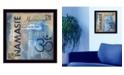 "Trendy Decor 4U Yoga Series - Namaste By Debbie DeWitt, Printed Wall Art, Ready to hang, Black Frame, 14"" x 14"""