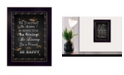 "Trendy Decor 4U Be Yourself By Trendy Decor4U, Printed Wall Art, Ready to hang, Black Frame, 14"" x 10"""
