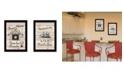"""Trendy Decor 4U Friendship Journey 2-Piece Vignette by Millwork Engineering, Black Frame, 10"""" x 14"""""""