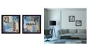 "Trendy Decor 4U Yoga I Collection By Debbie DeWitt, Printed Wall Art, Ready to hang, Black Frame, 28"" x 14"""