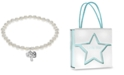 Rhona Sutton Children's Crystal Charms Pearl Stretch Bracelet in Sterling Silver
