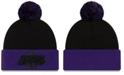 New Era Los Angeles Lakers Black Pop Knit Hat
