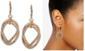 Anne Klein Gold-Tone Double Link Orbital Drop Earrings