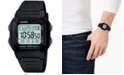 Casio Men's Digital Black Resin Strap Watch 37mm