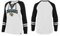 '47 Brand Women's Jacksonville Jaguars Lace Up Long Sleeve T-Shirt