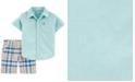 Carter's Toddler Boys 2-Pc. Cotton Oxford Shirt & Plaid Shorts Set