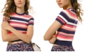 Michael Kors Striped Cropped Top