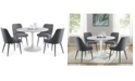 Steve Silver Colfax 5-Pc. Dining Set, (White Table & 4 Side Chairs)