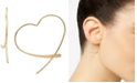 Giani Bernini Wire Heart Threader Earrings in 18k Gold-Plated Sterling Silver, Created for Macy's