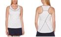 PGA TOUR Grand Slam Tennis-Print Mesh-Inset Tank Top