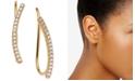 AVA NADRI 18k Gold-Plated Cubic Zirconia Curved Bar Ear Climbers