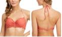 SUNDAZED Nixie Printed Underwire Ruffled Halter Bikini Top, Created for Macy's