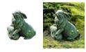 Campania International Rabbit on A Rock Garden Statue