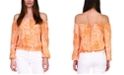 Michael Kors Paisley Off-The-Shoulder Top, Available in Regular & Petites