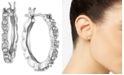 """Givenchy Small Crystal Hoop Earrings, 0.52"""""""