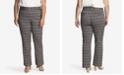 CeCe Women's Plus Boot Leg Plaid Pants