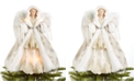 Holiday Lane Light Up Champagne Shimmer Angel Tree Topper, Created for Macy's