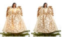 Holiday Lane Light Up Glitter Ivory Angel Tree Topper, Created for Macy's