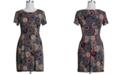 Connected Plus Size Medallion-Print Dress