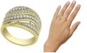 Macy's Diamond Swirl Statement Ring (3/4 ct. t.w.) in 14k Gold