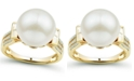 Honora Cultured Ming Pearl (12mm) & Diamond (1/5 ct. tw.) Ring in 14k Gold