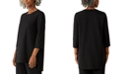Eileen Fisher Jewel-Neck Asymmetrical Tunic Top