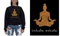 LA Pop Art Women's Word Art Crewneck Inhale Exhale Sweatshirt