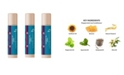 C2 Clean Beauty Women's Lip Conditioner Peppermint, Pack of 3