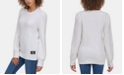 Calvin Klein Jeans Crew-Neck Puffed-Shoulder Sweater