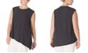 Anne Klein Plus Size Printed Asymmetric Top