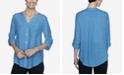 Ruby Rd. Women's Plus Size Woven Silky Gauze Top