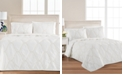Martha Stewart Collection Floral Embroidered Geo King/Cal King Quilt, Created for Macy's