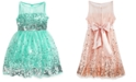 Crystal Doll Big Girls Sequin Illusion Dress
