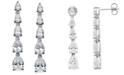 Arabella Swarovski Zirconia Graduated Linear Earrings in Sterling Silver (8 ct. t.w.)