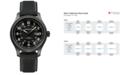 Hamilton Men's Swiss Automatic Khaki Field Black Canvas Strap Watch 42mm H70575733