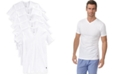 Polo Ralph Lauren Men's Undershirt, Slim Fit Classic Cotton V-Neck 5 Pack