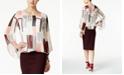 Alfani Petite Printed Angel-Sleeve Blouson Top, Created for Macy's
