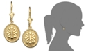 Macy's 14k Gold Earrings, Oval Etruscan