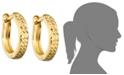 Macy's 10k Gold Hoop Earrings