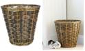 Household Essentials Medium Wicker Lined Waste Basket