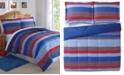 My World Sebastian Reversible 3-Pc. Stripe Full/Queen Comforter Set