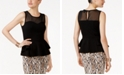 Thalia Sodi Illusion Peplum Top, Created for Macy's